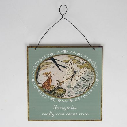 50% OFF Fairytales Come True Vintage Fairies Tin Plaque